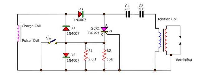 CDI Ignition Schematic Diagram