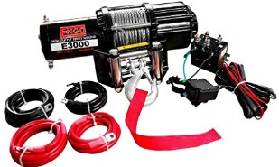 Engo 3,000 Lb12 Volt Electric Winch for ATV