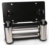 ZESUPER Flip-Up Winch Roller Fairlead Stainless Steel